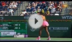 WTA Indian Wells 2015 | R3 Serena Williams - Zarina Diyas
