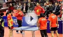 Zhang Jike Li Xioxia & Ding Ning MA LONG on a Mini Table