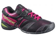 Womens Tennis Shoes on Babolat Womens Propulse Lady 3 Tennis Shoes Black Rose Tennisnuts