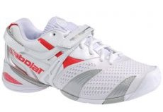 Womens Tennis Shoes on Babolat Womens Propulse Lady 3 Tennis Shoes White Red Tennisnuts