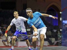 World No. 1 Mohamed Elshorbagy (R) will contest Friday's final against current world champion Ramy Ashour.